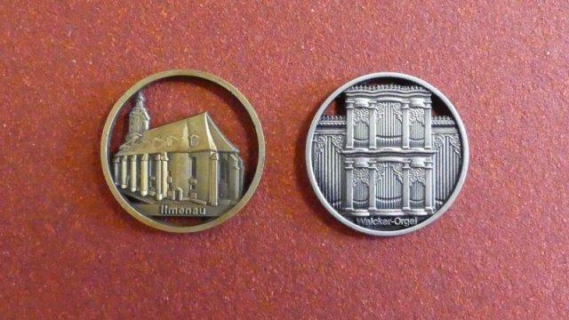 Einkaufswagen-Chip mit Ansicht der St. Jakobuskirche und der historischen Walcker-Orgel  je 2,50 €