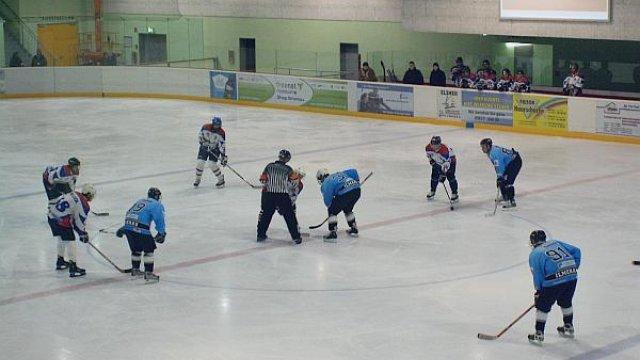 Eishockeyspiel der Kickelhahn Rangers in der Eishalle (2009)
