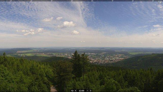 Panorama-Webcam auf dem Kickelhahn
