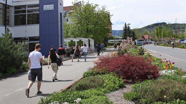 Campus der TU Ilmenau mit ASC und Mensa