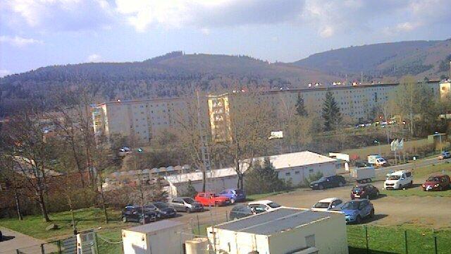 Webcam der Wetterstation der TU Ilmenau im April