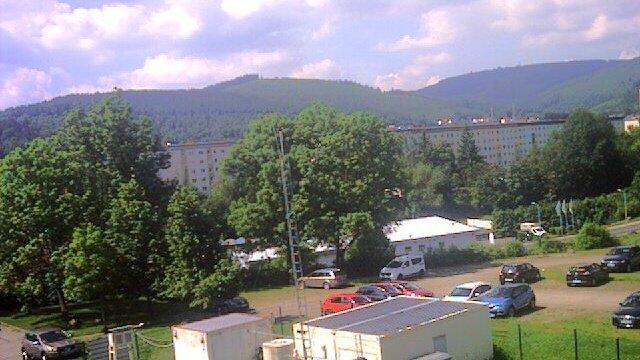 Webcam der Wetterstation der TU Ilmenau im Juni