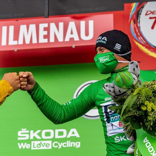 Grünes Trikot in Ilmenau zur Deutschland Tour