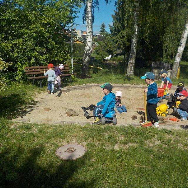 Kindergarten Hüttengrund - Der große Sandkasten