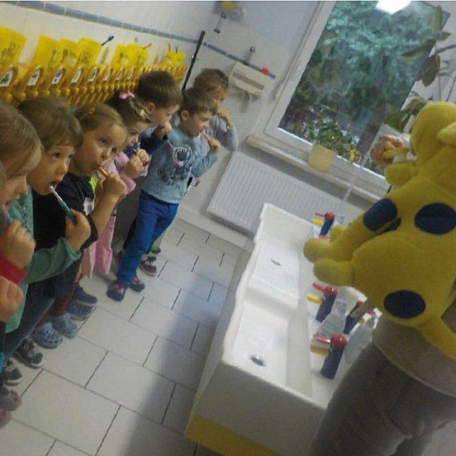 Kindergarten Hüttengrund - Ein Waschraum