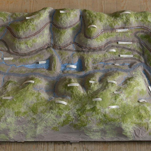 Modell der Ilmenauer Berggräben