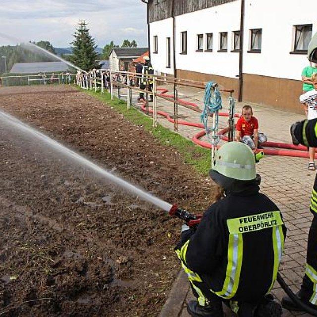 Feuerwehr-Großübung 2012 in Oberpörlitz