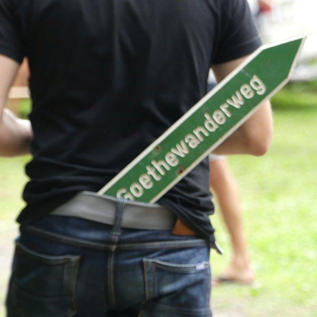 Schild Goethewanderweg