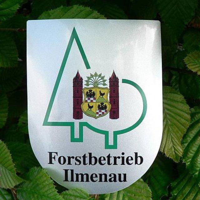 Schild Forstbetrieb Ilmenau