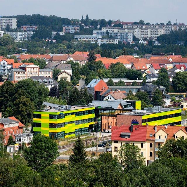 Blick vom Hochhaus