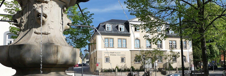 Amtshaus vom Hennebrunnen aus fotografiert