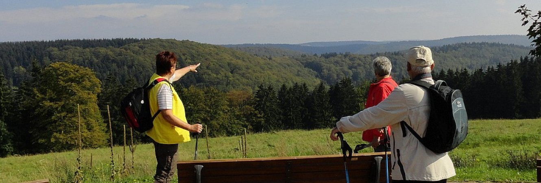 Wanderer bei Frauenwald