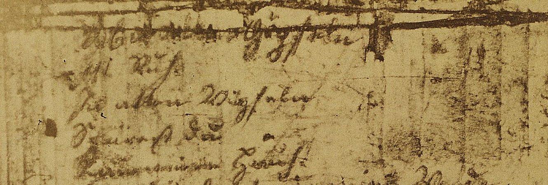 Wandrers Nachtlied - Repro mit Goethes Handschrift