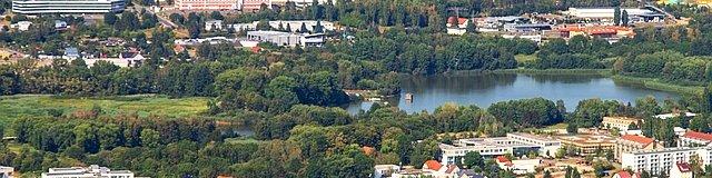 Ausschnitt Stadtpanorama vom Lindenberg aus fotografiert