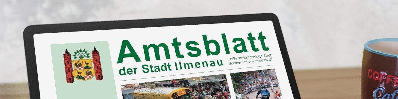 Amtsblatt (Tabletansicht; Foto: Robert Schmidt)