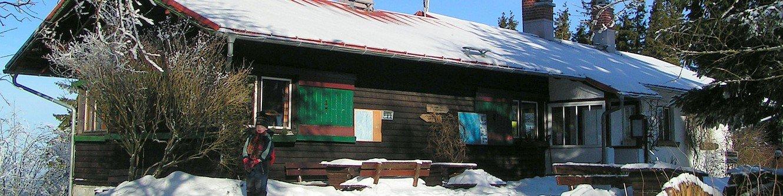 Bobhütte im Winter