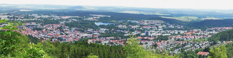 Panoramablick auf Ilmenau