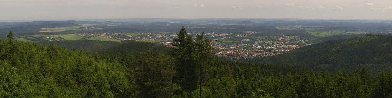 Panorama-Webcam auf dem Kickelhahn - Blick auf Ilmenau