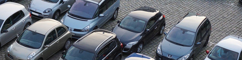 Parkplatz Ansicht von oben