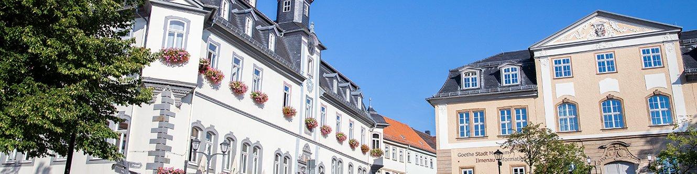 Ansicht Rathaus und Amtshaus