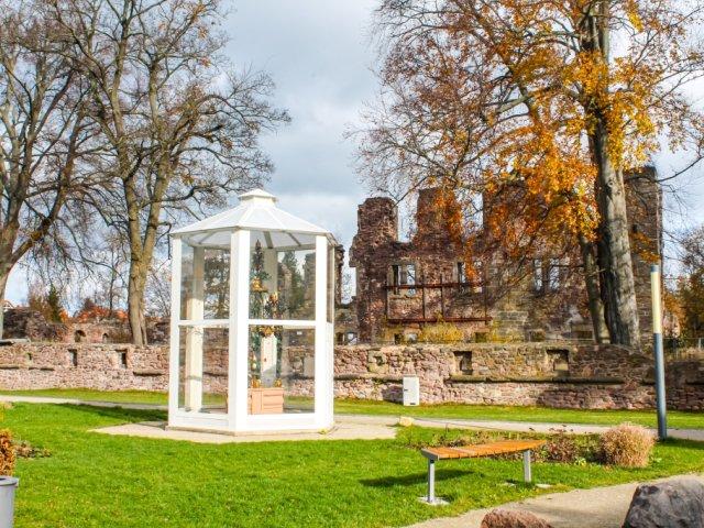 Stadt- und Schlossmuseum Gehren Blick in den Schlosspark