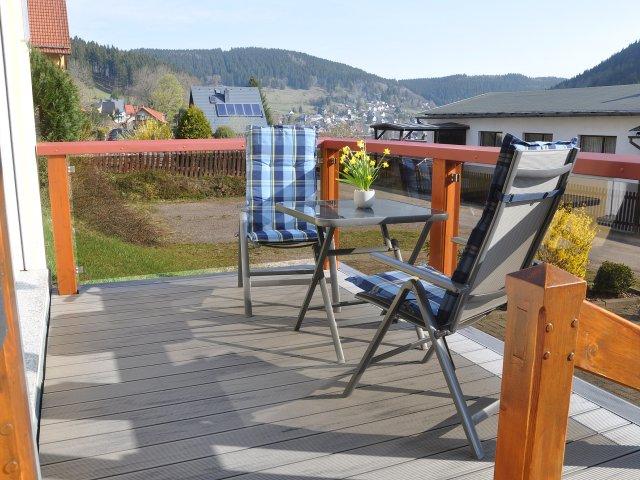 Ferienwohnung Hermannsteinblick Terrasse