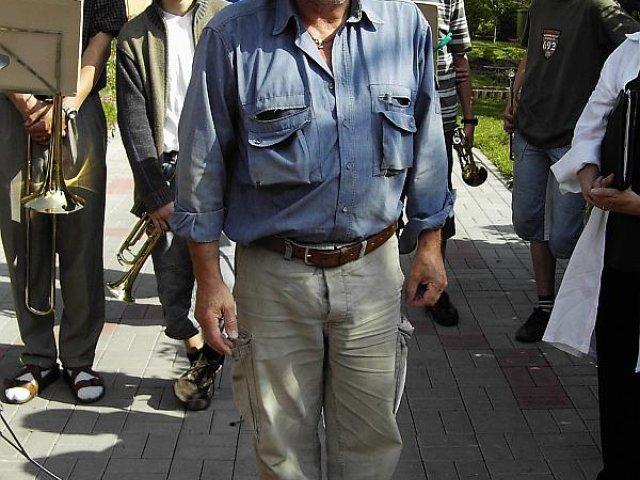 Verlegung der Stolpersteine im Jahr 2007 - Gunter Demnig