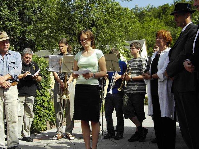 Verlegung der Stolpersteine im Jahr 2007 - Susanne Spira