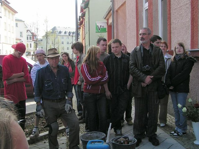 Verlegung der Stolpersteine im Jahr 2008