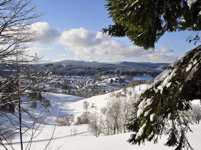 Blick vom Panoramaweg im Winter