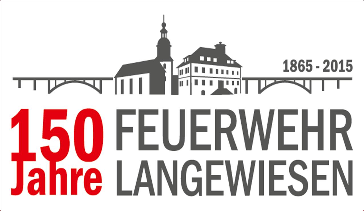 Logo 150 Jahre Feuerwehr Langewiesen
