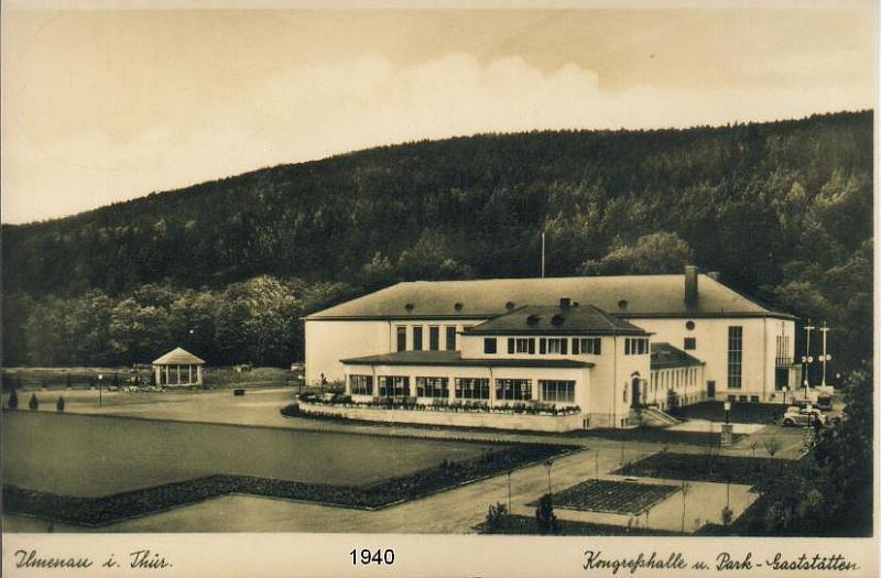 Stadtpark und Festhalle 1940