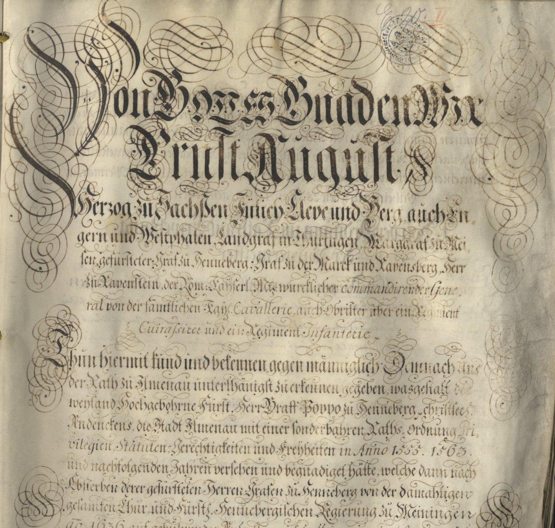 Archivgeschichte Ilmenau