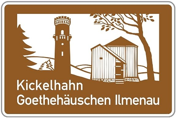 Infotafel Kickelhahn Goethehäuschen Ilmenau an BAB 71