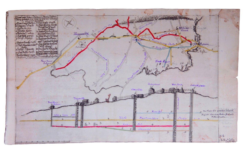 Historische Bergwerkskarte, 1737