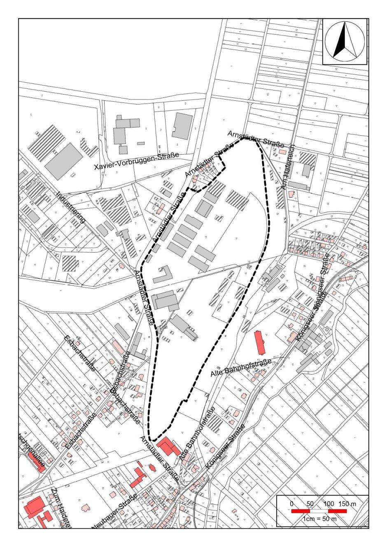 Geltungsbereich des Bebauungsplanes Nr. 61 der Stadt Ilmenau