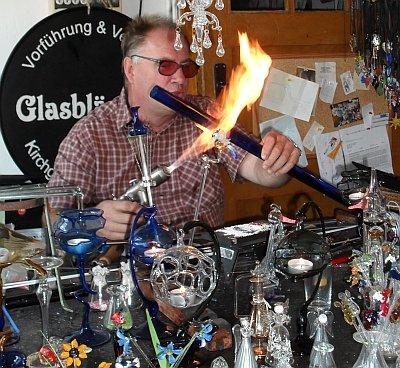 Glasbläser Herr Kirchgeorg