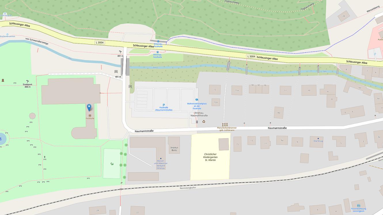 Kartenausschnitt Openmaps