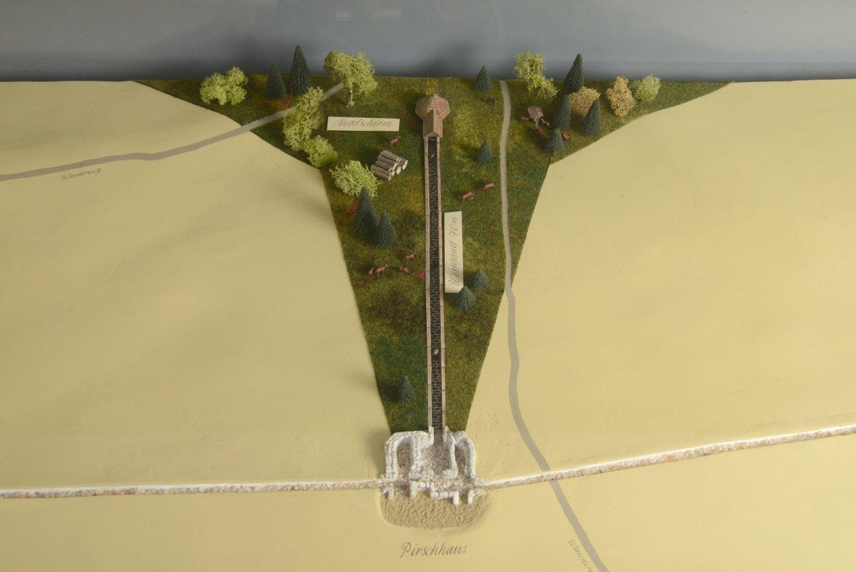 Modell der historischen Jagdanlage auf dem Kickelhahn