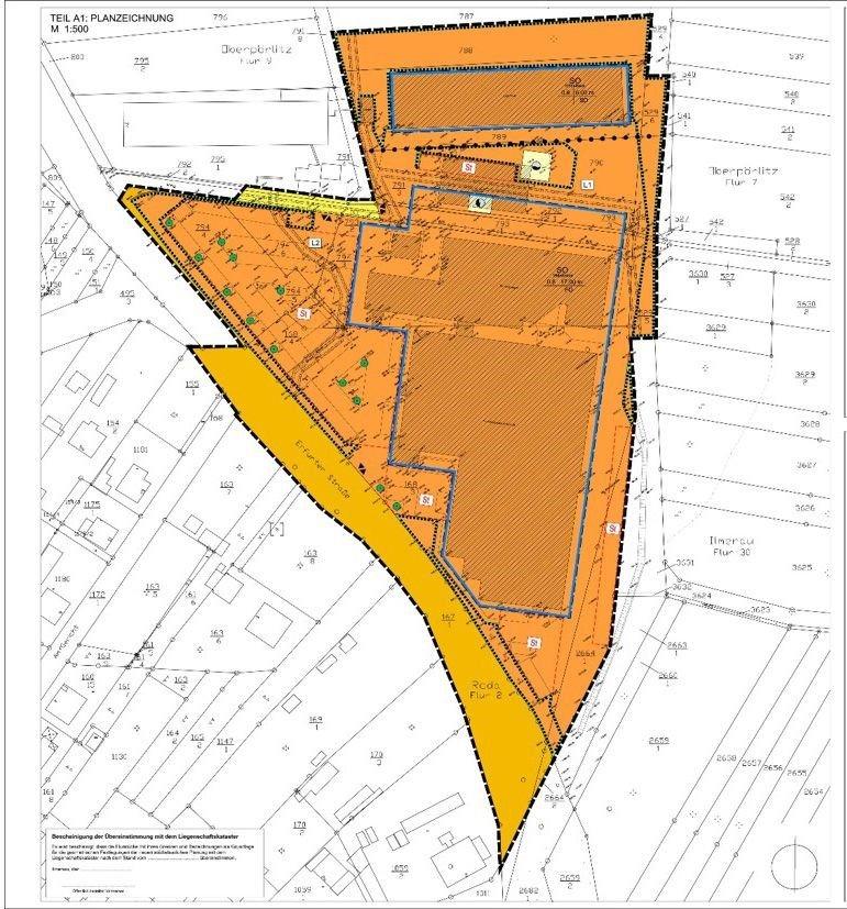 Geltungsbereich des bisherigen Vorhabenbezogenen Bebauungsplans Nr. 8 der Stadt Ilmenau