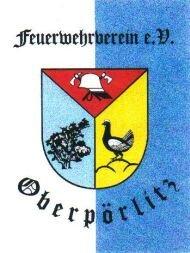 Fahne des Feuerwehrvereins Oberpörlitz e.V.