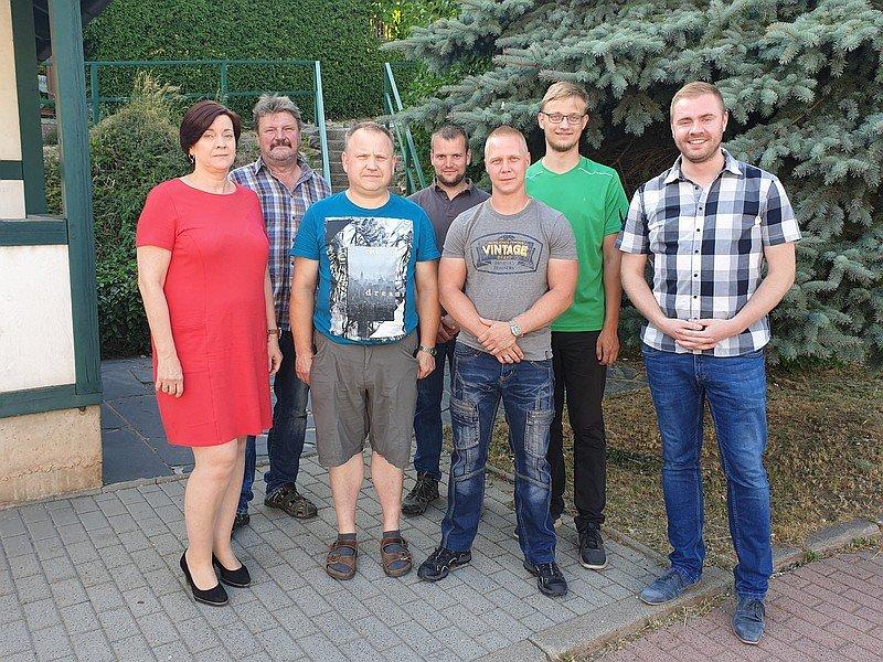 Ortsteilrat Möhrenbach - Elke Steitz, Ronald Umbreit, Steffen Köhler, Kevin Stößel, Tim Boersch, Oli Löser und Ortsteilbürgermeister Mathias Steitz (v.l.n.r.)