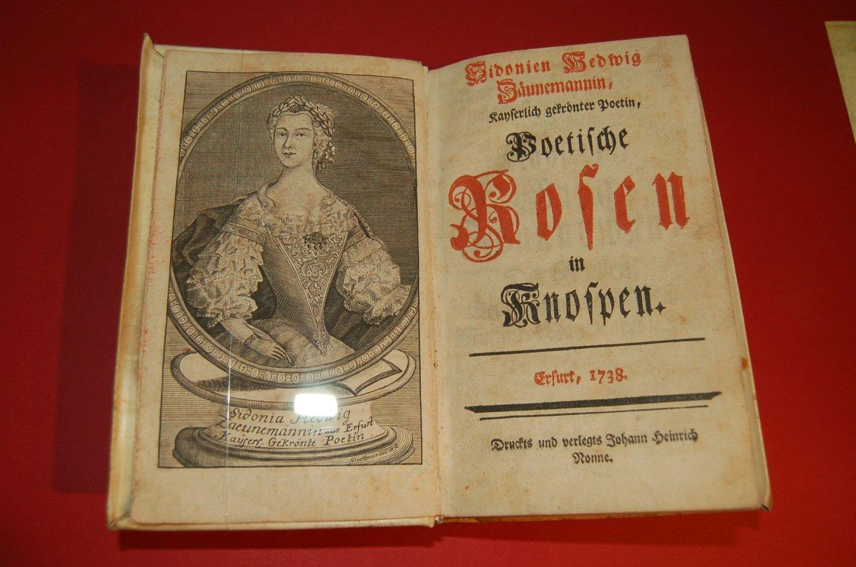 Sidonia Hedwig Zäunemmann: Poetische Rosen in Knospen, 1738