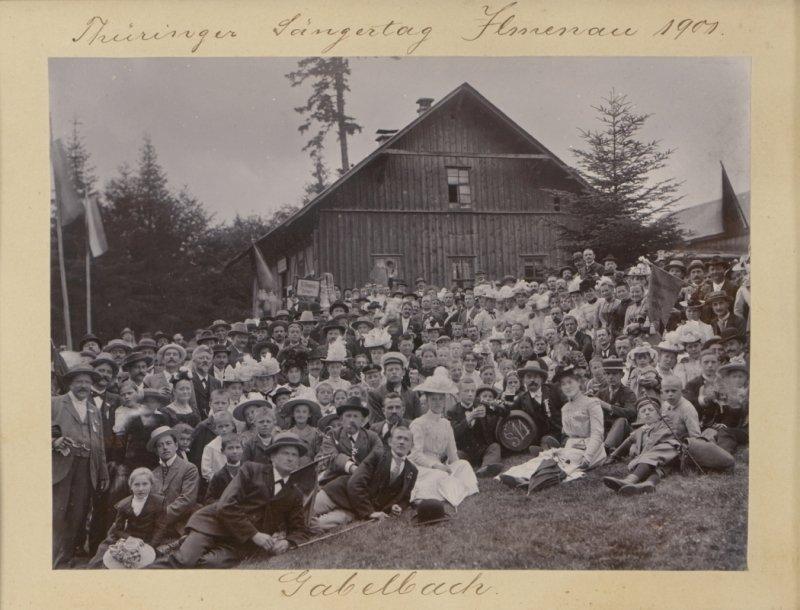 Historisches Foto: Thüringer Sängertag, Ilmenau 1901